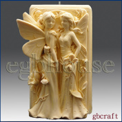 Twin Fairys - 3d Soap/candle/polymer/clay/cold Porcelain Silicone Mould