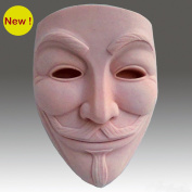 Guy Fawkes Mask - Detail of High Relief Sculpture - Silicone Soap/polymer/clay/cold Porcelain Mould
