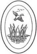 10cm x 15cm Oval Engraved Flying Duck Premium 1.3cm Bevelled Glass - Pkg of 4