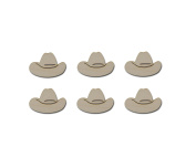 Cowboy Hat Shape Unfinished Wood Steer Western Wooden Cut Out Part # CBH-06