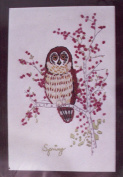 Needlework Plus Crewel Embroidery Kit - Spring Owl - 15cm x 23cm # 500-2