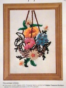 "WonderArt Stitchery ""Hanging Basket"" Crewel Embroidery Kit #5004"