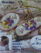 Spring Bouquet Ribbon Embroidery Barrette & Brooch Kit 41004