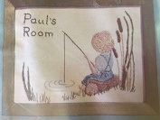 "Room Signs "" Fishing"" Embroidery Kit 280"