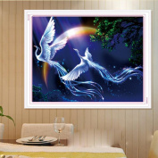 DEESEE(TM) DIY Diamond embroidery 5D Full Drilled Diy Diamond Painting Cross Stitch Square Diamond 30 * 38cm