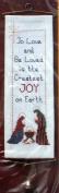 The Creative Circle Needlepoint Kit - Christmas Joy Bellpull - 10cm x 36cm # 2162