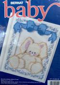 Bernat Baby Plastic Canvas Cross Stitch Kit W26240 Bunnies & Bows Album Cover