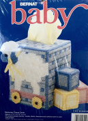 Bernat Baby Plastic Canvas Cross Stitch Kit W26220 Memories Tissue Cover