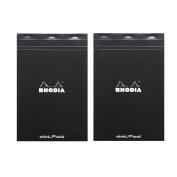 (2-Pack) Rhodia Black Dot Pad Nº 19, 8.3 x 12.5