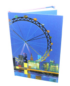 A5 Hard Cover Magnetic Closing Notebook - Spirit City Collection, London Design - 160 Pages - by Robert Frederick