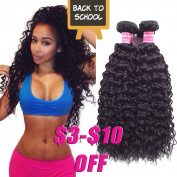 Haorui Brazilian Curly Virgin Hair Weave 3 Bundles 7A Unprocessed Virgin Human Hair Extensions Natural Black Hair Colour