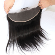 Toprincess Lace Frontal 13x 4 Ear to Ear Free Part 100% Unprocessed Silky Straight Brazilian Virgin Hair Top Lace Front Closures with Baby Hair Natural Colour 30cm