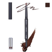 Face Forever Multifunction Eyebrow Makeup Powder and Pencil Waterproof Longlasting Automatic Eyebrow Makeup Pen 3 Colours Light Brown,Brown,Dark Brown.