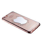 For iphone 6S, Fullkang Mirror Faux Diamond Plating Rubber Soft TPU Cover Case