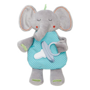 Elegant Baby Pacifier or Binky Holder, Elephant