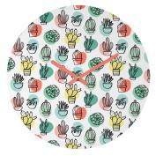 DENY Designs Zoe Wodarz Summer Days Cactus Round Clock, 30cm Round