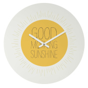 DENY Designs Allyson Johnson Morning Sunshine Round Clock, 30cm Round