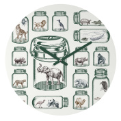 DENY Designs Belle13 Endangered Species Preservation Round Clock, 30cm Round