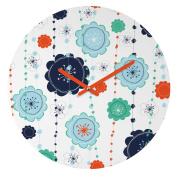 DENY Designs Ali Benyon Round Clock, Suzy Pop, 30cm Round