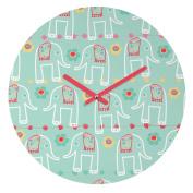DENY Designs Ali Benyon Round Clock, Love Is, 30cm Round