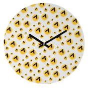 DENY Designs Allyson Johnson Round Clock, Firefly Pattern, 30cm Round