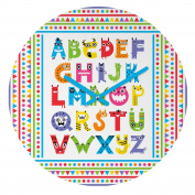 DENY Designs Andi Bird Alphabet Monsters Round Clock, 30cm Round