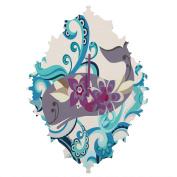 DENY Designs Valentina Ramos Whale Blossom Baroque Clock, Small
