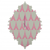 DENY Designs Bianca Green Oui Oui Baroque Clock, Small