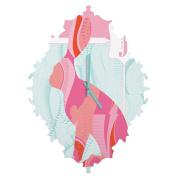 DENY Designs Jennifer Hill Miss Jackrabbit Baroque Clock, Small