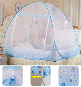 New Version Folding Portable 190T High Density Polyester Double Door Free Installation Self Supporting Bedroom Effective Insect Repellent Bed Nets With Bottom. (200*150*155CM