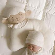 Newborn Baby Infant Pillow Memory Foam & Prevent Flat Head Anti Roll support Neck