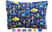 Toddler Pillowcase - Fun Designs that Kids Love - Perfect Fit for All 33cm x 46cm and 33cm x 48cm Pillows - High Quality Envelope Style - Hand Crafted in OHIO