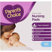 Disposable Nursing Pads by Parent's Choice, Super Absorbent and Leak-Proof - 120 ct