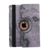 TechCode New 360 Rotating PU Leather Stand Smart Case Cover Polka Dot Pattern Case for iPad 2/3/4