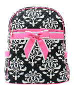 J & C Family Owned Bloom Damask Quilted 33cm Backpack