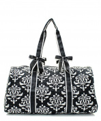 J & C Family Owned Bloom Damask Quilted 50cm Duffle Bag