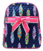 J & C Family Owned Feather Quilted 33cm Backpack