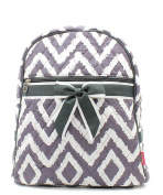 J & C Family Owned Geometric Quilted 33cm Backpack