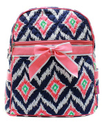 J & C Family Owned Ikat Quilted 33cm Backpack