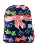 J & C Family Owned Bow Tie Quilted 33cm Backpack