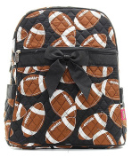 J & C Family Owned Football Quilted 33cm Backpack