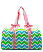 J & C Family Owned Chevron Quilted 50cm Duffle Bag