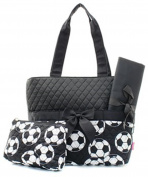 J & C Family Owned Soccer Quilted Pink Nappy Bag