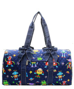 J & C Family Owned Robot Quilted 50cm Duffle Bag