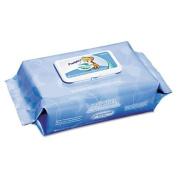 Nice 'n Clean Unscented Baby Wipes, 6 1/2 x 9, White, 80/Pack, 12 Packs/Ctn