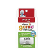 Playtex Nappy Genie Safe, Natural Carbon Filter Refill Tray Comes with 4 carbon filters for Nappy Pails ,New,White