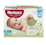 Huggies Natural Care Baby Wipes, Refill, Unscented, Hypoallergenic, Aloe and E-New!!!