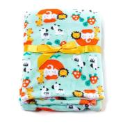 Baby Gear Plush Velboa Ultra Soft Baby Boys Blanket 30 x 40 Green Safari