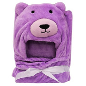Purpile Teddy Baby Blankets