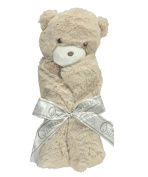Quiltex Security Blanket - Teddy - tan, one size